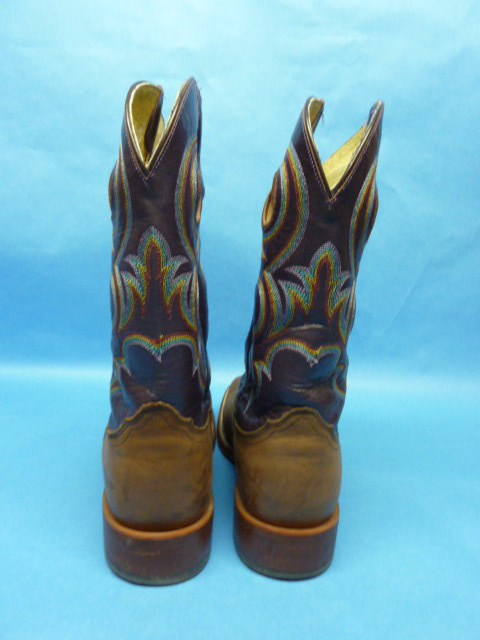 Corral Women's Studded Cross Tall Top Boots - Vintage ... |Cowboy Boots With Colored Tops