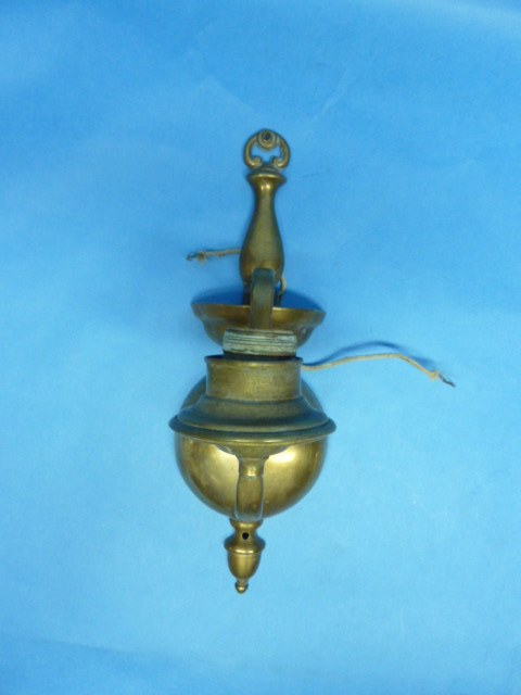 Colonial Electric Wall Sconces : Antique Vintage Cast Brass Colonial Electric Lamp Lighting Wall Sconce eBay