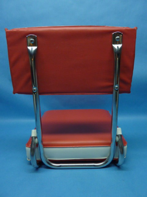Metal Stadium Seats : Vintage folding vinyl metal stadium bleacher travel boat